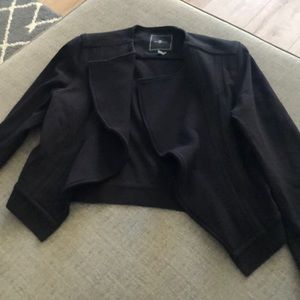 Black fitted 7 for all mankind jacket